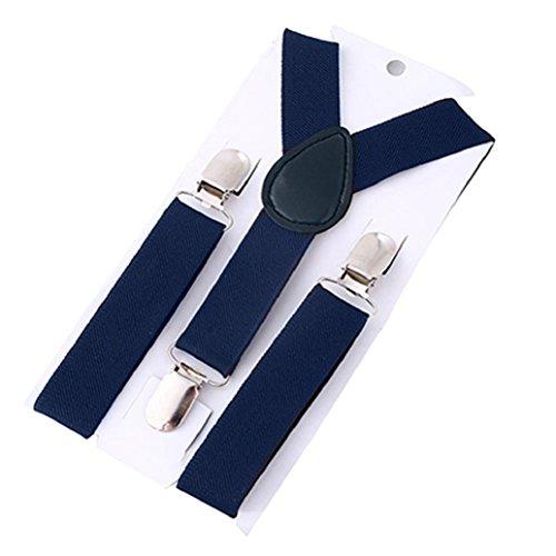 Tirantes ajustables con espalda en forma de Y, de Lovely Kids, infantil  azul marino Talla:talla única