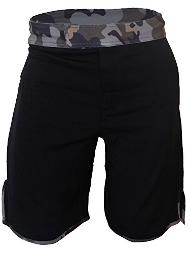 Epic MMA Gear Blank WOD MMA Shorts - No Logo (Men 28, Black/camo)