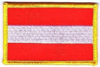 Flaggen Aufnäher Patch Österreich ohne Wappen Fahne NEU by FahnenMax®