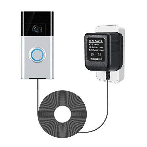 Netzteil Adapter und Kabel Netzadapter Smart Home Zubehör kompatibel für Door Bell Video Türklingel 2 Pro (8M with hook)