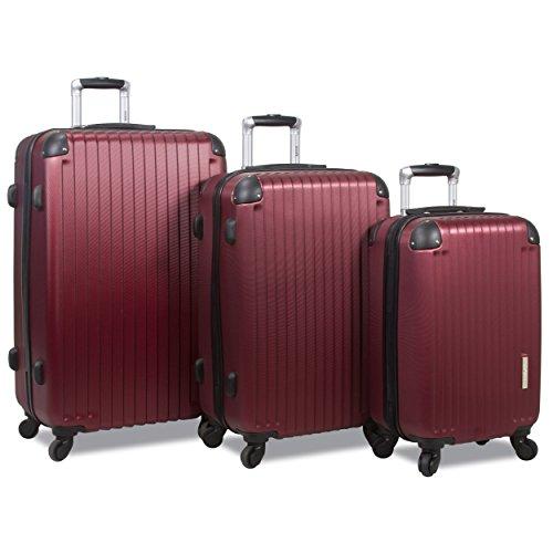 Rolite Prism 3-Piece Hardside Spinner Combination Lock Luggage Set, Burgundy, One Size