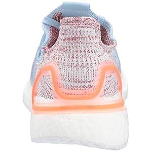 adidas Women's Ultraboost 19 Running Shoe, Glow blue/hi-res coral/active Maroon, 7.5 M US