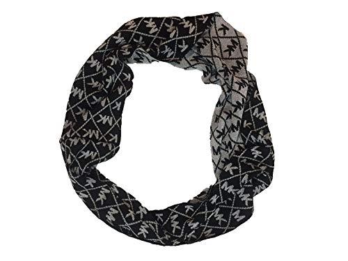 Michael Michael Kors Women`s Logo Infinity Loop Metallic Scarf (Black(538199C-001)/Metallic, One Size)