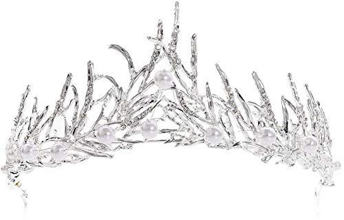 KEEBON Mujeres Nupcial Crown Crystal Crown Crown Dama de Honor de Novia Pago de la Diadema de la Boda Tiaras Hazías para la joyería de la Boda Pulseras Pendientes Pendientes Anillos Collares