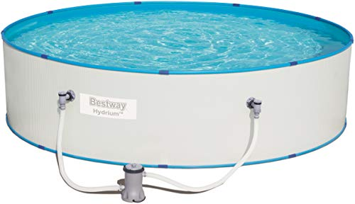 Bestway Hydrium Splasher stabiler Stahlwandpool rund mit Filterpumpe, 330x84 cm