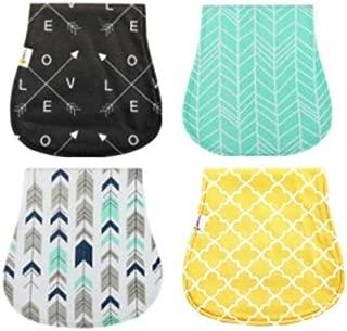 4 Pack Organic Burp Cloths