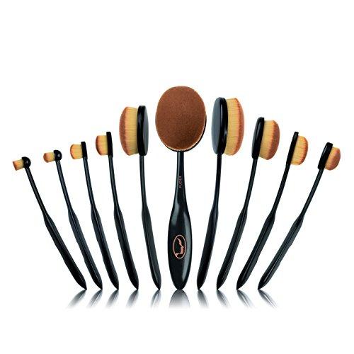 VITALmaxx Lot de 10 pinceaux de maquillage professionnels - Pour le visage et le fard à paupières