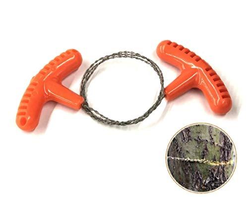 WOO LANDO Pocketsäge aus Edelstahl, 65 cm Gesamtlänge, verbesserte Drahtsäge für Holz und Kunststoff, klein Handlich schnell verstaut, ideal für Outdoor, Camping