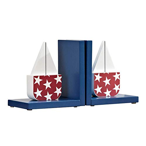 WEHOLY Book Ends Heavy Duty Bookends Sailing Book Ends Home Decoration Ornaments Boy Girl School Desktop Storage Bookend Book Fans Lovers of The Best Gift