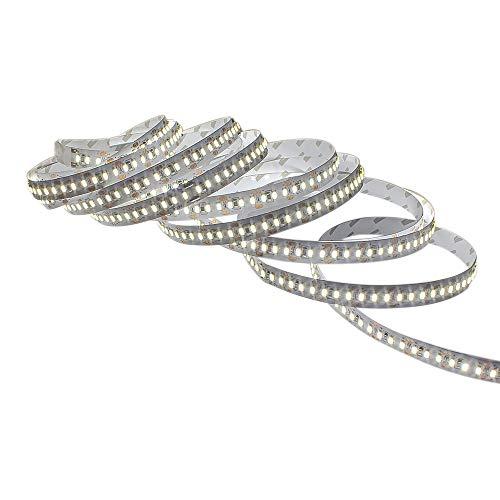 SZMiNiLED LED Ribbon, LED Tape Light 3014 DC12V Cool White LED Strips 204leds/m Flexible Led Strip Pack of 5m/16.4ft
