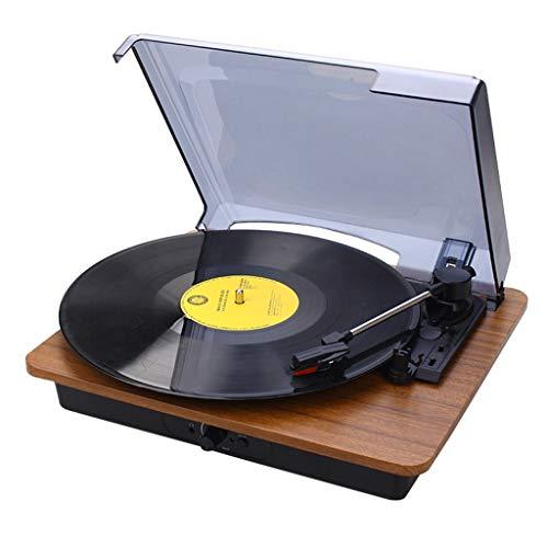 Xu-music klassieke platenspeler, 3-speed  draagbare vinyl LP-speler stereo luidsprekers AUX Input/RCA Line Out Vinyl platenspeler