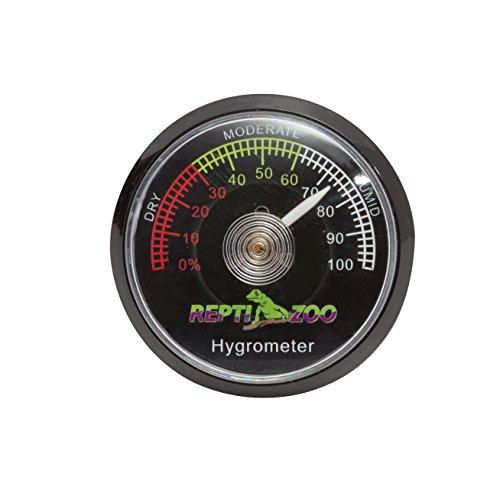 REPTI ZOO Reptile Terrarium Hygrometer,Dial Gauges Pet Rearing Box Hygrometer