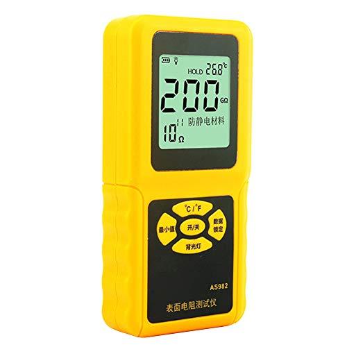 Suppyfly AS982 Messgerät für Oberflächenwiderstand, LCD-Display