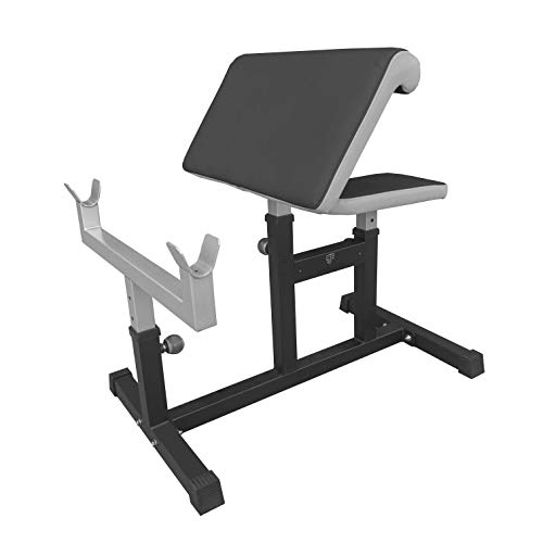 VERSATABLES StrengthTech Fitness USA Made Adjustable Arm Preacher Curl Weight Bench | Fitness Gym Quality | Power Coated Steel | - Black