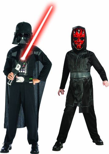 Star Wars STAR WAR - 154559 - Costume - Bi-pack Dark Vader e Darth Maul