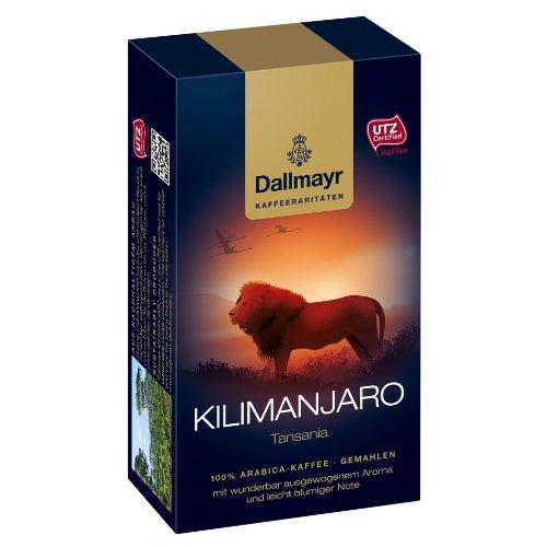 Dallmayr Kilimanjaro Tansania, Kaffee Raritäten, Gemahlener Röstkaffee, Blumige Note, 250 g
