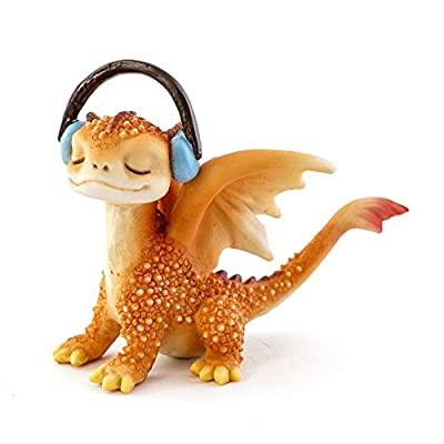 Top Collection Solar The Red Dragon - Mini Collectible Fantasy Figurine (Rocking Out)