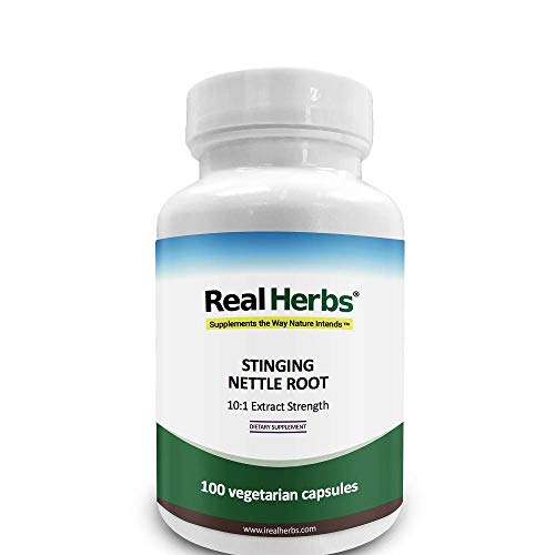 Real Herbs Stinging Nettle Root 10: 1 Pure Extract 750mg - 100 cápsulas vegetarianas
