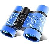 COOLEAD Binoculares para Niños Al Aire Libre Juguetes Prismáticos Compacto para Observación de Aves 4x30 Alta Resolución Telescopio a Prueba de Golpe Juguete Educativo Regalo para Niños (Azul)