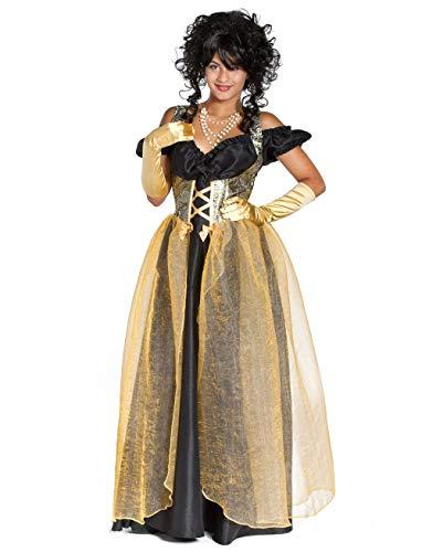 MAGIC BY FREDDYS Vestido Marquise largo negro/oro, talla: XS
