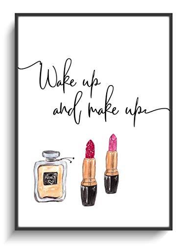 Kunstdruck Modern DIN A4 Fashion Make up 2 ohne Rahmen Design Schriftzug Lippenstift Dekoration Wohnen Schlafzimmer Wohnung Zuhause Spruch Lustig