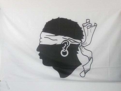 AZ FLAG Flagge Korsika ALT 150x90cm - Korsika Fahne 90 x 150 cm Scheide für Mast - flaggen Top Qualität