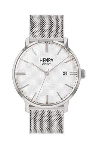 Henry London Orologio Analogico Quarzo Unisex Adulto con Cinturino in Acciaio Inox HL40-M-0373