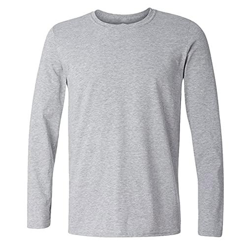 N\P Camisas de manga larga para hombre primavera otoño casual cuello camisa fitness