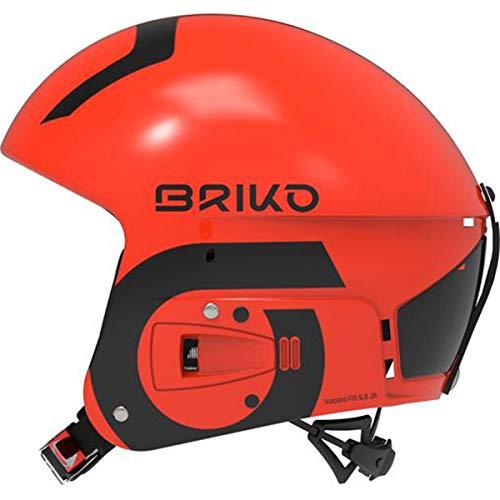 Briko Vulcano FIS 6.8 Junior Casque de Ski, Unisexe, Rouge, Taille M