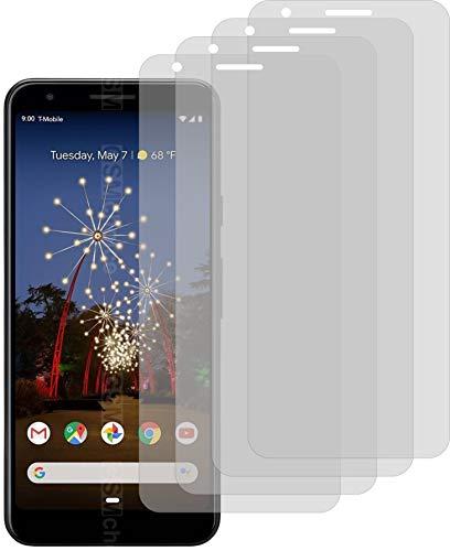 4X ANTIREFLEX matt Schutzfolie für Google Pixel 3a Bildschirmschutzfolie Displayschutzfolie Schutzhülle Bildschirmschutz Bildschirmfolie Folie