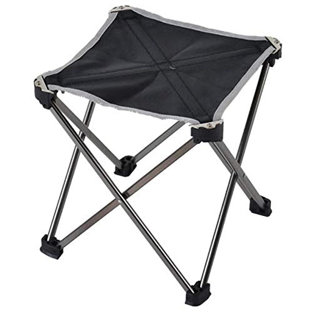 春予測する重くするACAMPTAR アウトドアスポーツ、キャンプの折りたたみ椅子、6061アルミ合金+布、折りたたみ式釣り用椅子、超軽量、ポータブル、ミニシート、レジャー、アウトドア、チェア、ミディアム、黒色+オレンジ色