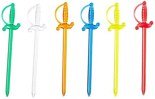 JB Systems - Set de 50 palillos para aperitivos, diseño de espada