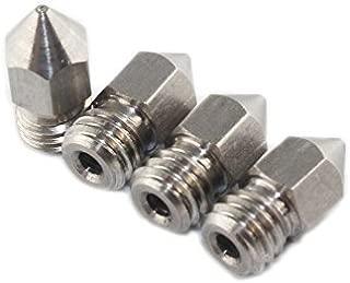 BALITENSEN 4pcs Stainless Steel MK8 Nozzle 0.4mm M6 Thread for 1.75mm Filament Makerbot 2 RepRap 3D Printer Extruder