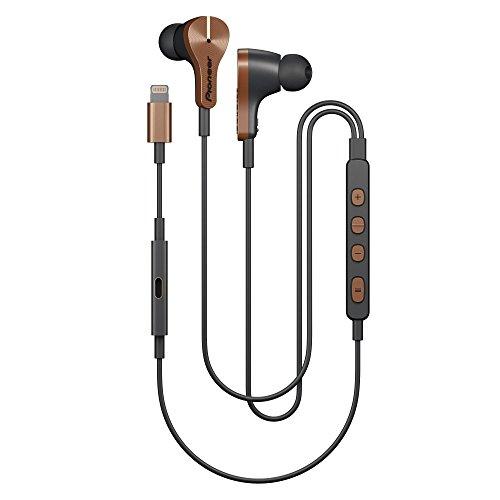 Pioneer SE-LTC5R-T Smarter Lighting-Kopfhörer mit Freisprech und Ladefunktion, Noise Cancelling und niedriegem Stromverbrauch, Auto Pause, Smart Button kupfer