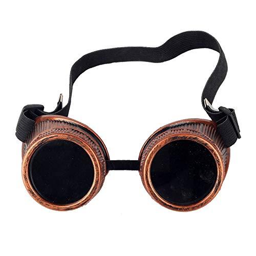 NO BRAND Jubaren7 Estilo del Bronce de la Nueva Vendimia de Steampunk Gafas de Soldador Punk gótico vidrios del Partido de Cosplay de Soldadura Gafas Accesorio para Trajes (Color : Bronze)