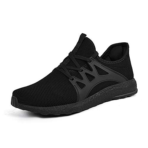 ZONKIM Womens Running Shoes Non Slip Lightweight Breathable Mesh Sneakers Athletic Gym Sports Walking Shoes Black, 11