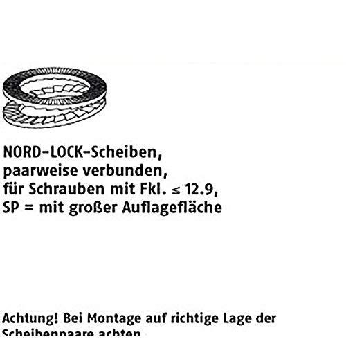 NORD-LOCK-Scheiben ART 88132 Nord-Lock - Arandelas adhesivas (DNL 4 SP, 4,4 x 9 x 1,8 flZn VE=S 200 unidades)