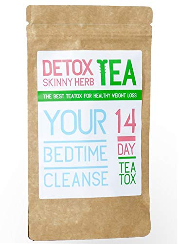 14 Days Bedtime Cleanse Tea : Detox Skinny Herb Tea - Effective Detox Tea, Body Cleanse, Reduce Bloating, Natural Weight Loss Tea, Boost Metabolism, 100% Natural