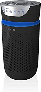 HoMedics TotalClean Tower Air Purifier for Viruses, Bacteria, Allergens, Dust, Germs, HEPA Filter, UV-C Technology, 5-in-1...