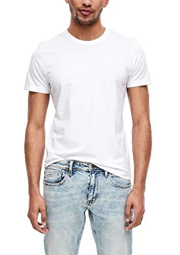 s.Oliver RED Label Herren 2er-Pack Crew Neck-Shirts White XL