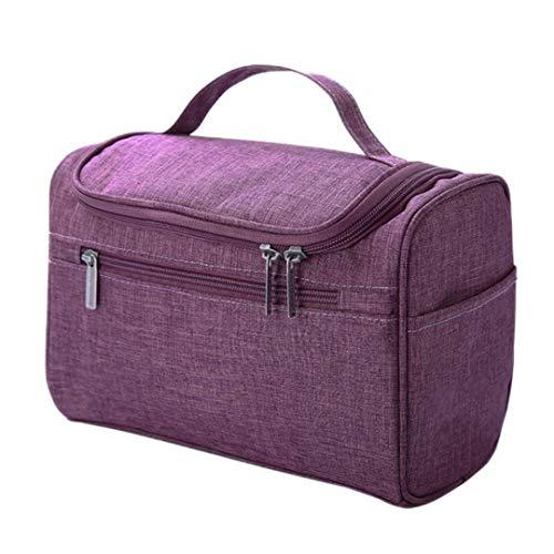Xuyichangzhishi Bolso de viaje para mujer cosméticaMaquillaje bolsa de lavado de gran capacidad bolsa de almacenamiento de la bolsa-Púrpura
