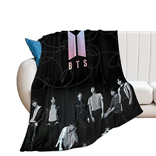 ZKDT BTS Manta de franela ultrasuave, manta para sofá, manta de regalo para adolescentes, niños, niñas, para viajes, camping (estilo 2,100 x 140 cm)