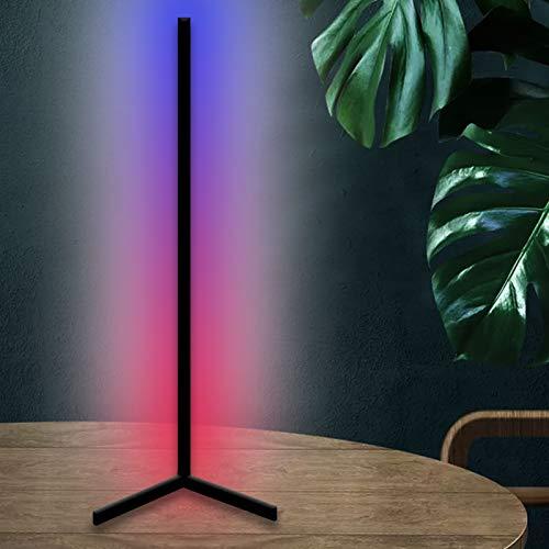 JAKROO Lámpara de Mesa LED, Nórdica RGB Moderna con Control Remoto, Cambio de Color RGB, Mesita De Noche Lámparas De Escritorio para Dormitorio