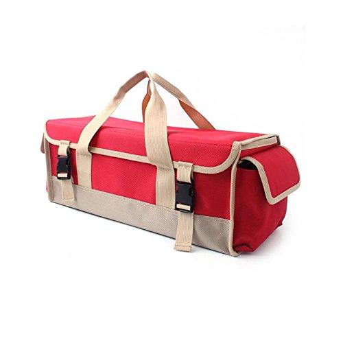 Dilwe Camping Werkzeug Handtasche, Wasserdichte Zusammenklappbare Große Kapazität Grill Lagerung Handtasche für Outdoor Camping Picknick