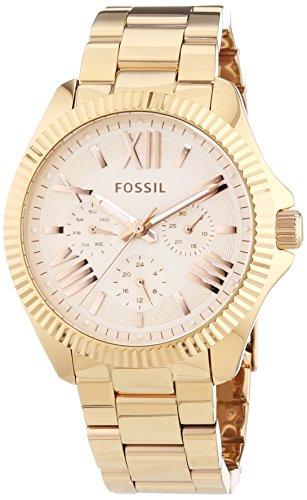 Fossil Damen-Armbanduhr Cecile Analog Quarz Edelstahl AM4569
