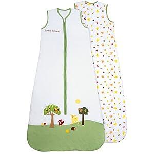 Saco de dormir para bebé (1 tog) de Slumbersac: diseño de animales del bosque, en diferentes tallas (de 0 a 6 años…