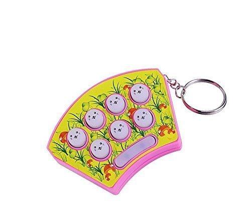 UChic 1 jeu électronique Whack Mole Hamster Attack Hit Mole pour bébé et enfant avec porte-clés consoles de jeu électronique (couleur aléatoire)