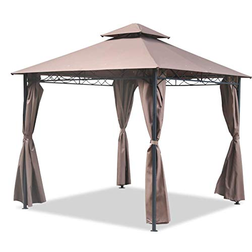 Equipment Gazebo Canopy Tent 10' X 10' Bbq Outdoor Patio Grill Gazebo With Sidewall Party Tent For Patios Large Garden Top