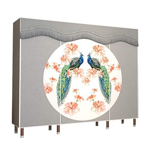 Olydmsky Armoire Tissus, Toilette Simple et Moderne Tuyau en Acier assemblé de Haute qualité Épaissie et épaissie Chiffon de Cuisine ménage