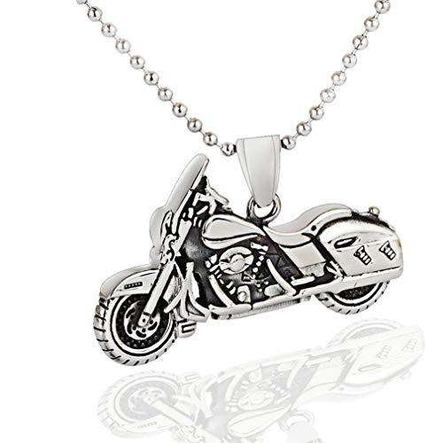 Herren Titan Stahl Halskette Motorrad-Anhänger Punk Hiphop Schmuck